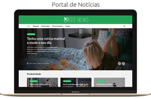 Ver Modelo de Site Portal de Notícias